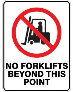 NO FORK LIFTS BEYOND THIS POINT